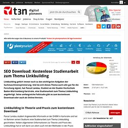SEO Download: Kostenlose Studienarbeit zum Thema Linkbuilding