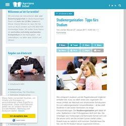 Studienorganisation: Tipps fürs Studium