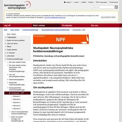 Studiepaket - NPF - SPSM