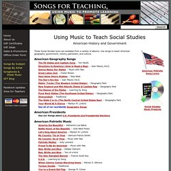 Using Music to Teach Social Studies: American History and Government