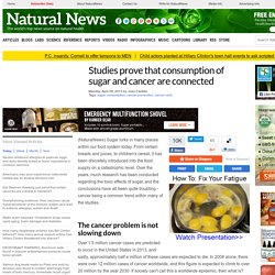 Studies prove that consumption of sugar and cancer are connected