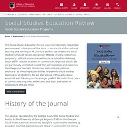 Social Studies Education Review - University of Georgia College of Education