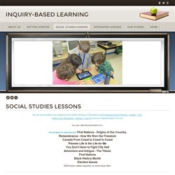 Social Studies Lessons - INQUIRY-BASED LEARNING