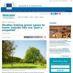 Studies linking green space to lower suicide risk are 'just a snapshot'
