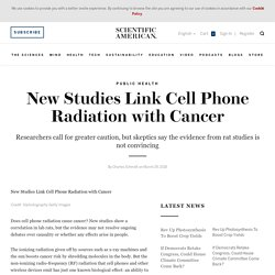 New Studies Link Cell Phone Radiation with Cancer
