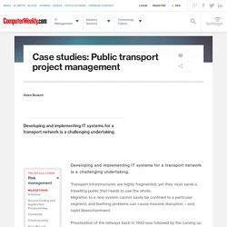 Case studies: Public transport project management