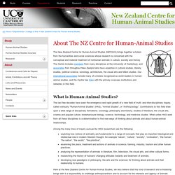 What is Human-Animal Studies? - New Zealand Centre for Human-Animal Studies - University of Canterbury - New Zealand