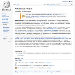 New media studies - Wikipedia, the free encyclopedia - Mozilla F