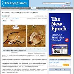 100,000-Year-Old Art Studio Found in Africa