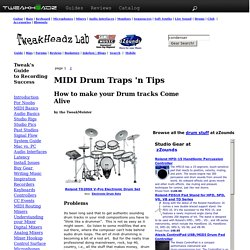 Make Your Studio Drum Tracks Come Alive, an article by Rich the TweakMeister