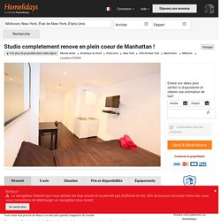 Studio completement renove en plein coeur de Manhattan ! - Ville de New York