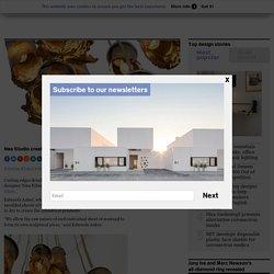 Nea Studio creates lamps from dried seaweed
