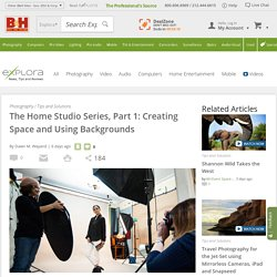 The Home Studio Series, Part 1: Creating Space and Using Backgrounds