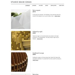 studio david graas | products