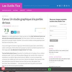 Canva. Un studio graphique à la portée de tous – Les Outils Tice