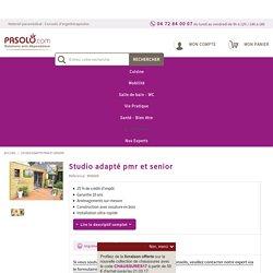 Studio adapté pmr et senior, habitat modulaire adapté pmr