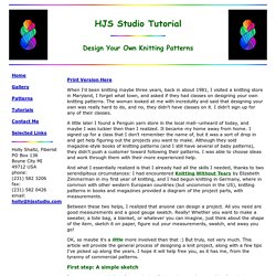 HJS Studio Design Your Own Knitting Patterns