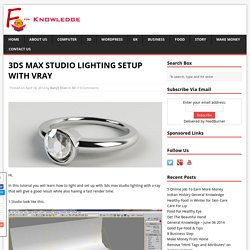 3DS MAX STUDIO LIGHTING SETUP WITH VRAY