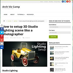 Studio lighting setup - Arch Viz Camp