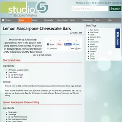 Studio 5 - Lemon Mascarpone Cheesecake Bars