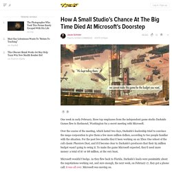 How A Small Studio's Chance At The Big Time Died At Microsoft's Doorstep
