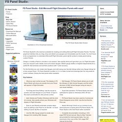 FS Panel Studio: Microsoft Flight Simulator Panel Editor