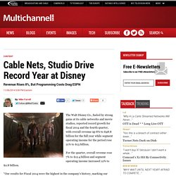Cable Nets, Studio Drive Record Year at Disney