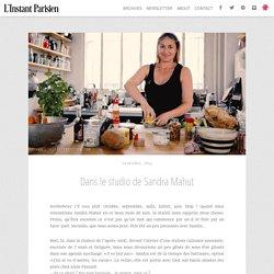 Dans le studio de Sandra Mahut - L'instant Parisien L'instant Parisien