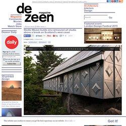 Studio Weave builds zinc-armoured art studio above a brook