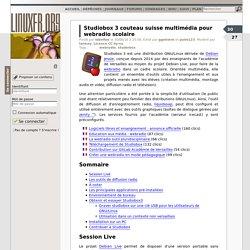 Studiobox 3 couteau suisse multimédia pour webradio scolaire