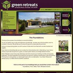 Garden Studios - Foundations - Green Retreats