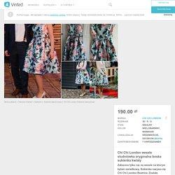 Chi Chi London wesele studniówka oryginalna boska sukienka kwiaty - vinted.pl