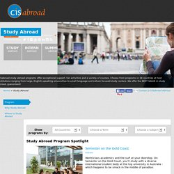 Study Abroad with CISAbroad