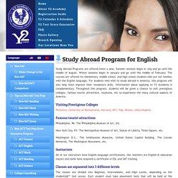 Study Abroad Program for English USA