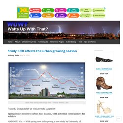 Study: UHI affects the urban growing season