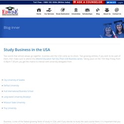 Study Business in the USA