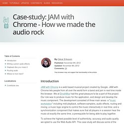 Case-study: JAM with Chrome - How we made the audio rock