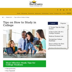 Tips on How to Study in College - The Daily Campus