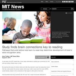 Study finds brain connections key to reading