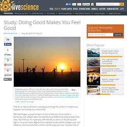 Study: Doing Good Makes You Feel Good