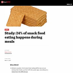 Study: 24% of snack food eating happens during meals
