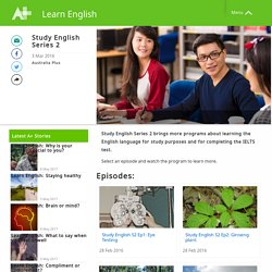 Study English Series 2 - Learn English - Australia Plus