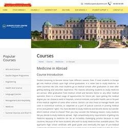 Study Medicine in Europe in English