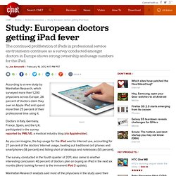 Study: European doctors getting iPad fever