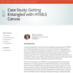 Case Study: Getting Entangled with HTML5 Canvas