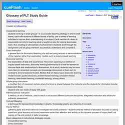 PLT Study Guide-:- Flashcards by cueFlash