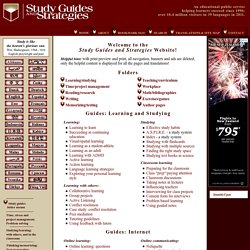 Study Guides and Strategies - StumbleUpon