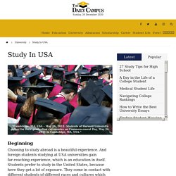Study In USA - The Daily Campus