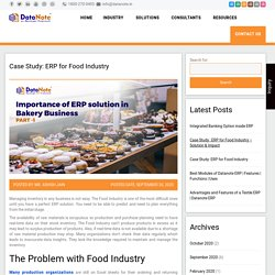 Case Study: erp for food industry