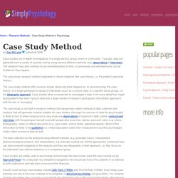 Case study approach psychology